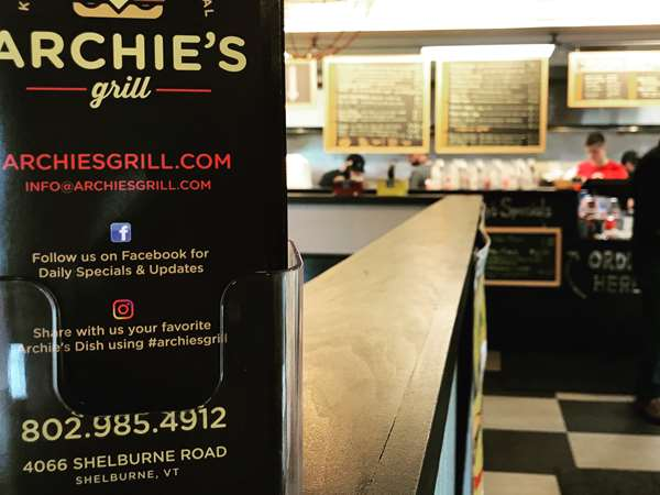 ALL DAY MENU - Archie's Grill, Shelburne, Vermont